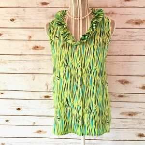 Lily Pulitzer Green Seaweed Silk Top Size 8